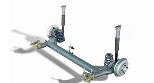 『典型的拖曳臂式后悬架』-拖曳臂是什么东西