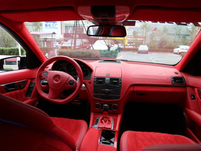 绯红玫瑰 奔驰C63内饰升级