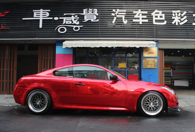 紅色閃電 英菲尼迪G37 Coupe改色案例