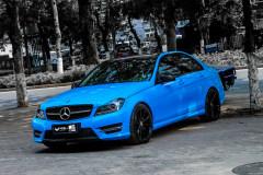 蓝色效果更炫酷 奔驰C260改装案例