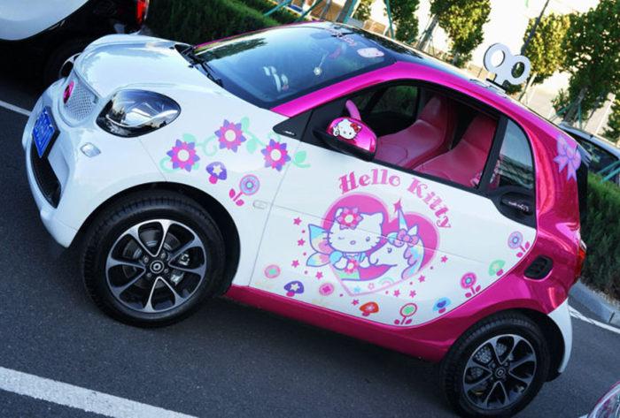 萌出动 HELLO KITTY的迷人改装车