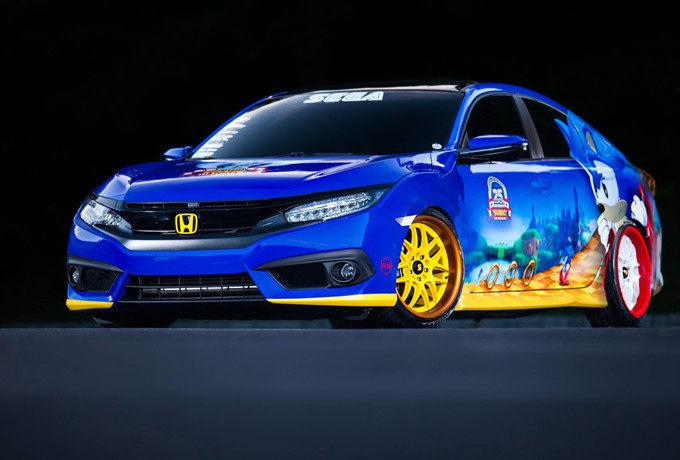 美系痛车 世嘉与本田推出Sonic Civic作品