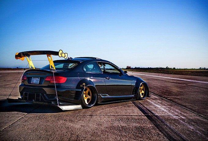 我猜你没见过  宽体BMW 335i贴地到底