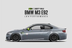 鲁莽暴躁 BMW E92 M3改装Liberty Walk套件