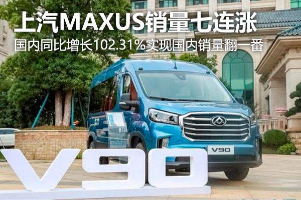 上汽MAXUS無懼車市寒冬 國內銷量同比增長102.31%