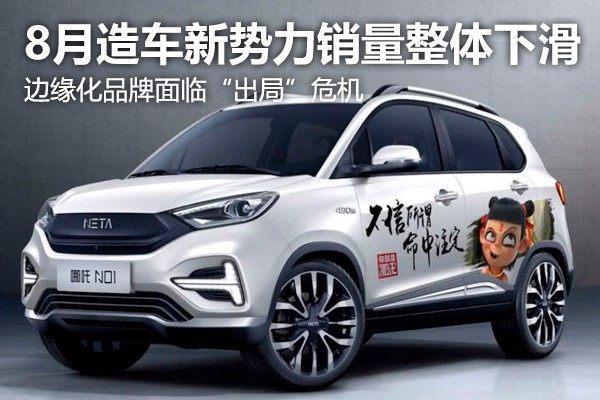 """8月造车新势力销量整体下滑 边缘化品牌面临""""淘汰""""危机"""