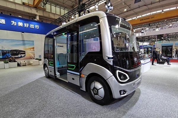 无人驾驶新车发布 宇通客车公交车E系列/U系列实拍图