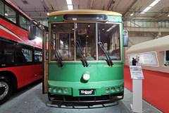 公交客运展 银隆新能源复古公交车实拍