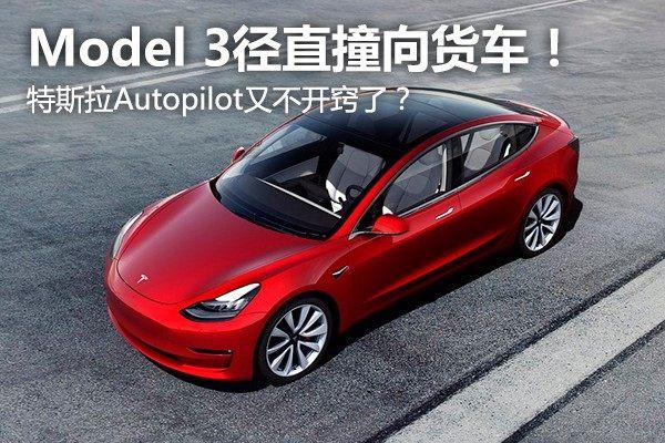 Model 3径直撞向货车!特斯拉Autopilot又不开窍了?