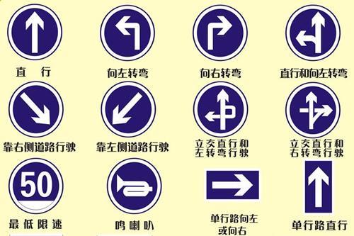 按标志行驶