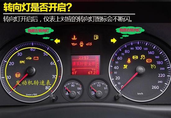 判断自己是否已经开启了转向灯,其实很简单,就是看仪表上是否有上图所示的转向指示灯。该指示灯是用来显示车辆转向灯所在的位置。通常为熄灭状态。当车主点亮转向灯时,该指示灯会同时点亮相应方向的转向指示灯,转向灯熄灭后,该指示灯自动熄灭。 转向灯开关在哪?怎么开启?