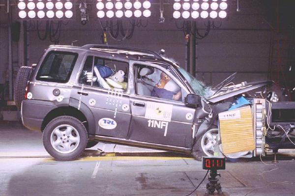 路虎神行者E-NCAP碰撞测试