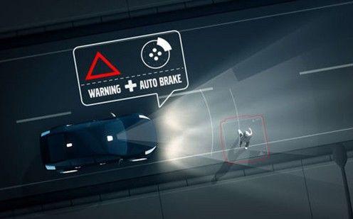 行人监测及刹车系统