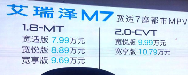 艾瑞泽M7