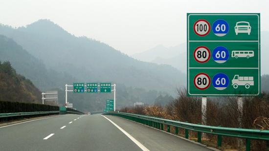 示牌上的限速标志