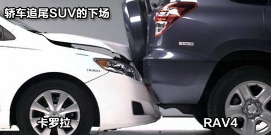 suv与小轿车相撞
