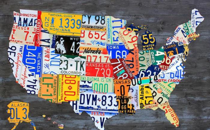 關于美國的車牌,有沒有一些說法?